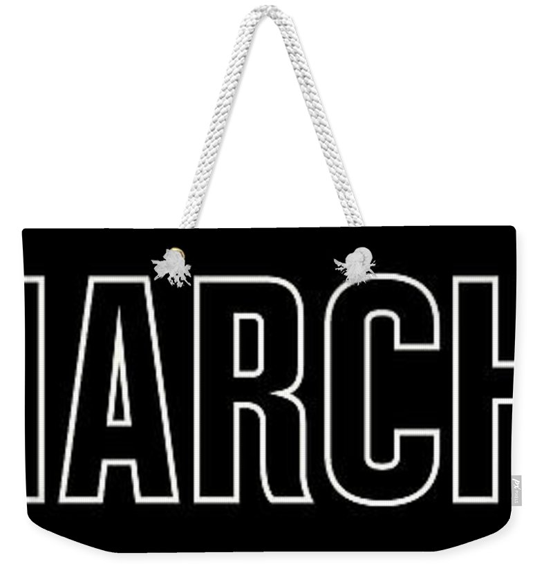 Mlk Weekender Tote Bag featuring the digital art March On by Time