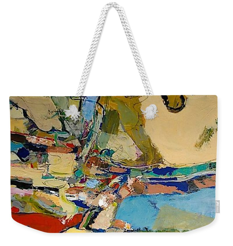 Landscape Weekender Tote Bag featuring the painting Pastime Drive by Allan P Friedlander