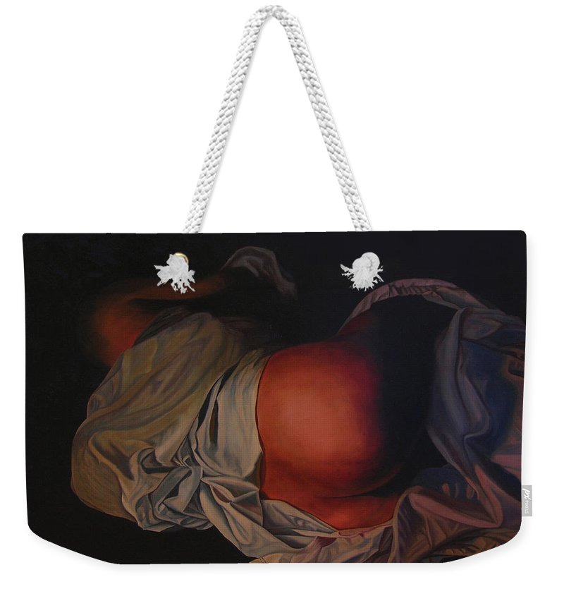 Sexual Weekender Tote Bag featuring the painting 12 30 A M by Thu Nguyen