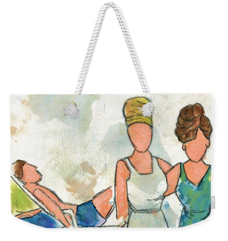 Beach Weekender Tote Bag featuring the painting 1964 Ocean Avenue by Hew Wilson