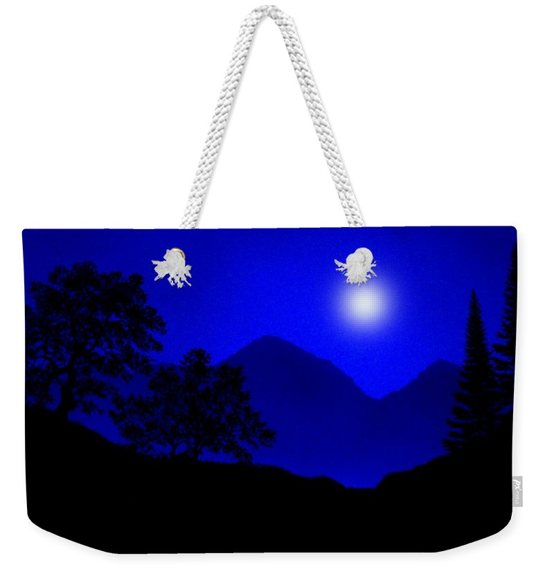 Moon Weekender Tote Bag featuring the painting By The Light Of The Moon by Frank Wilson