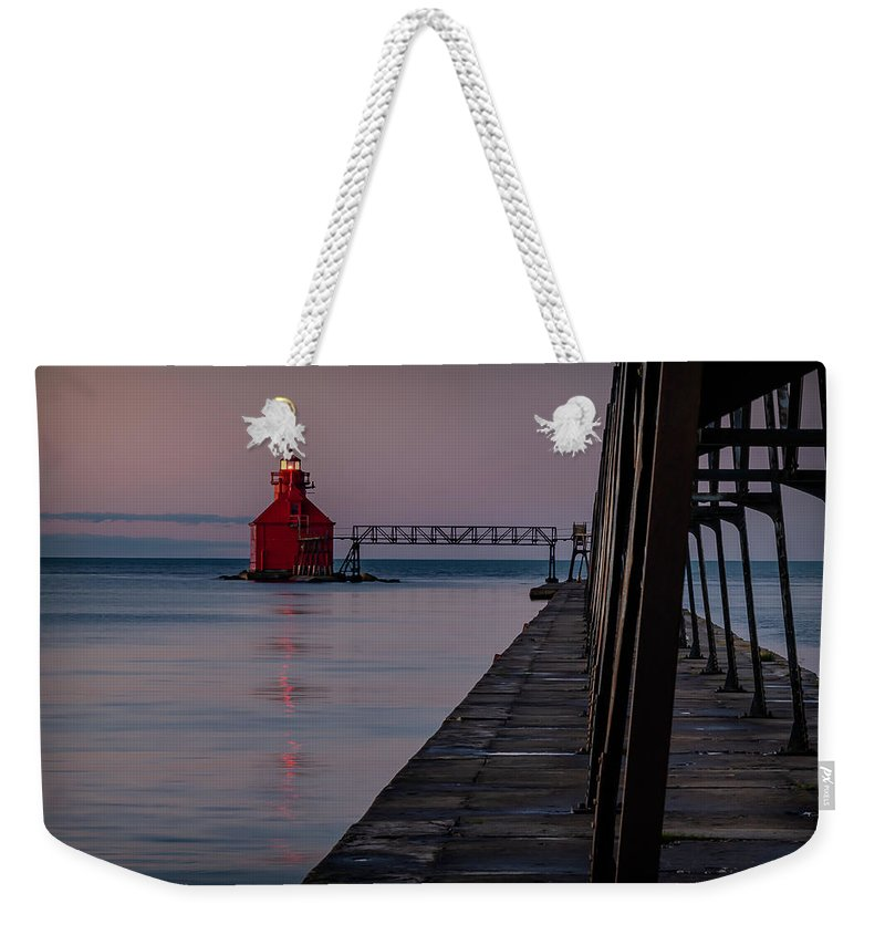 Lighthouse Weekender Tote Bag featuring the photograph 20-0611-0313 by Anthony Roma