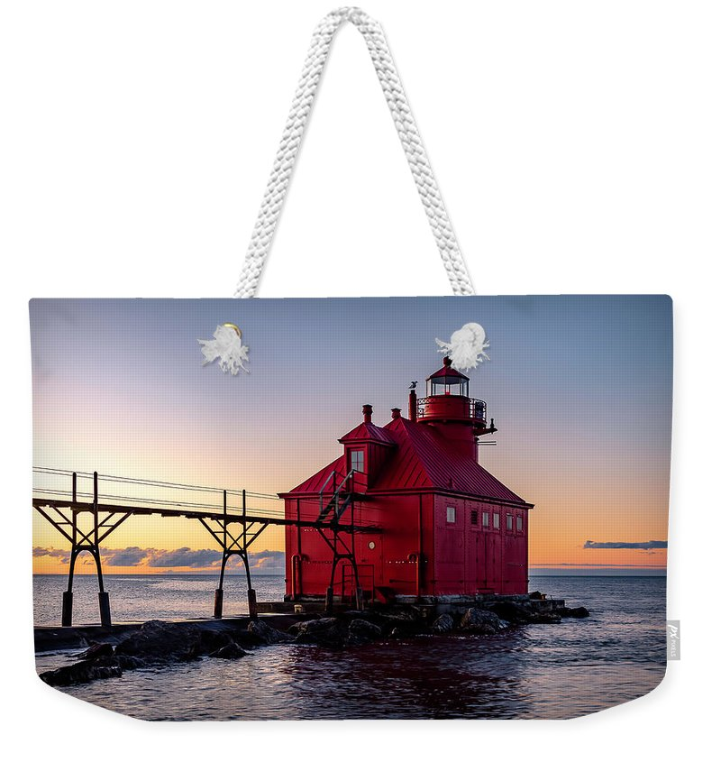 Lighthouse Weekender Tote Bag featuring the photograph 20-0611-0324 by Anthony Roma