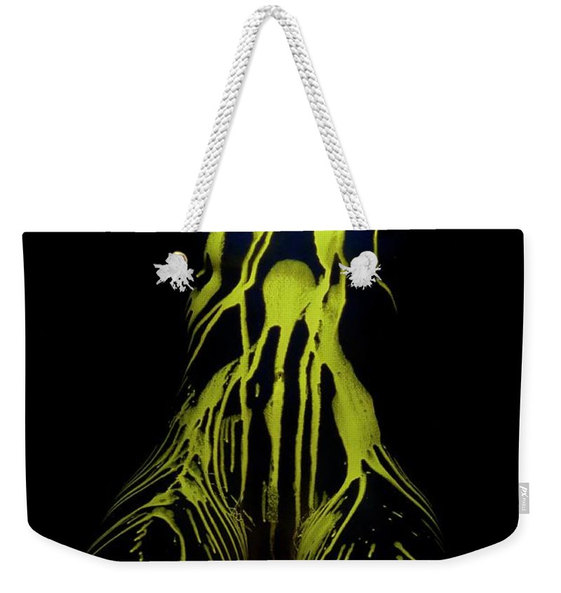 Nude Weekender Tote Bag featuring the photograph Liquid Latex by Pavel Jelinek