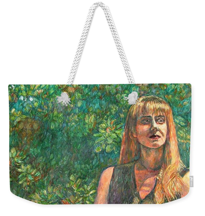 Figure Painting Weekender Tote Bag featuring the painting A Skater by Kendall Kessler