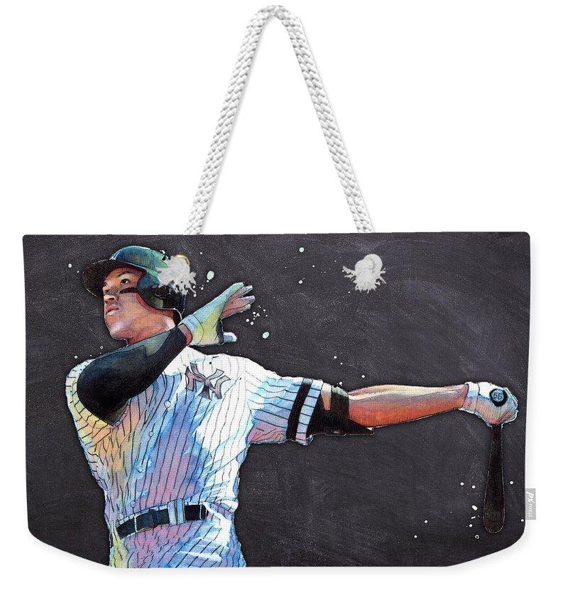 Aaron Judge Weekender Tote Bags