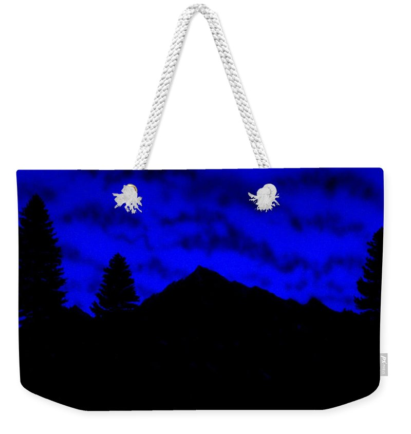 Nocturnal Weekender Tote Bag featuring the painting Above The Foothills by Frank Wilson