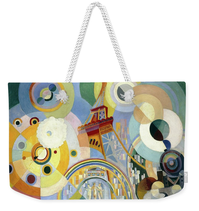 Robert Delaunay Weekender Tote Bag featuring the painting Air, Iron, And Water, 1937 by Robert Delaunay