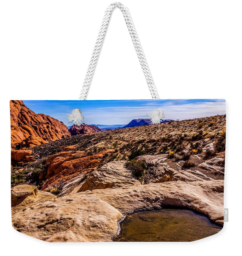 Weekender Tote Bag featuring the photograph Alien Scape by Rodney Lee Williams