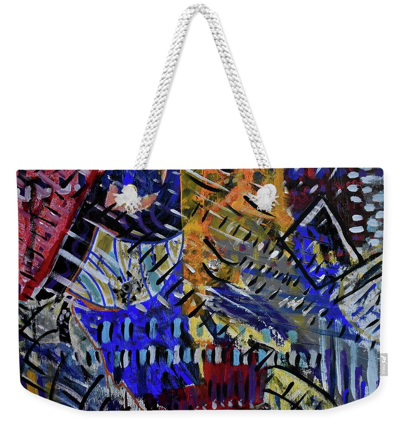 Colorado Weekender Tote Bag featuring the painting And Then It Rained by Pam Roth O'Mara