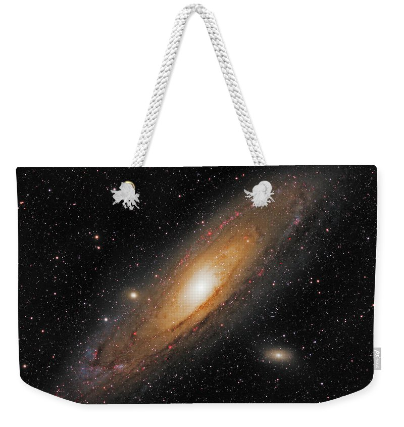 Andromeda Galaxy Weekender Tote Bag featuring the photograph Andromeda Galaxy by Prabhu Astrophotography