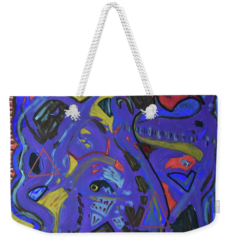 Colorado Weekender Tote Bag featuring the painting Apparition by Pam Roth O'Mara