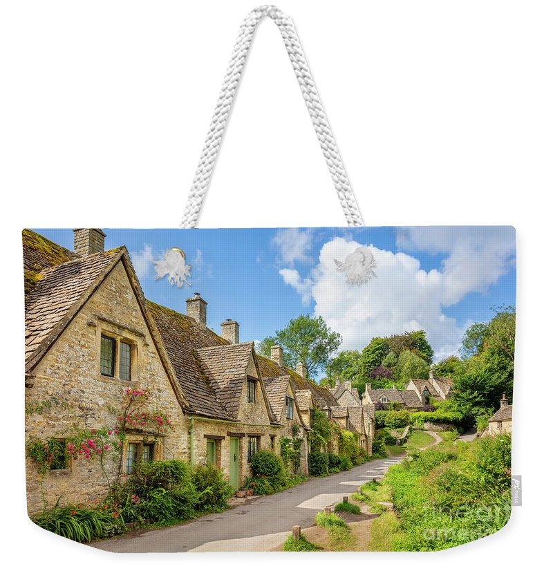 Bibury Weekender Tote Bag featuring the photograph Arlington Row, Bibury, England by Neale And Judith Clark