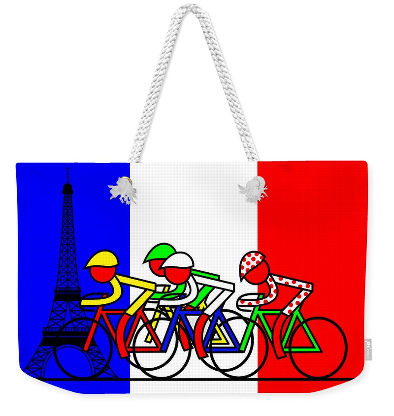 Arrival Weekender Tote Bag featuring the mixed media Arrival by Asbjorn Lonvig