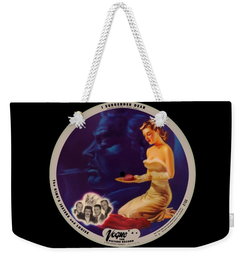 Vogue Picture Record Weekender Tote Bag featuring the digital art Vogue Record Art - R 708 - P 3 by John Robert Beck