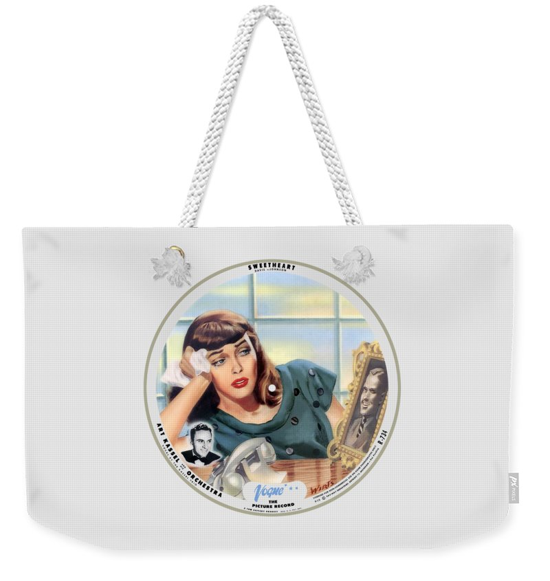 Vogue Picture Record Weekender Tote Bag featuring the digital art Vogue Record Art - R 734 - P 12 by John Robert Beck