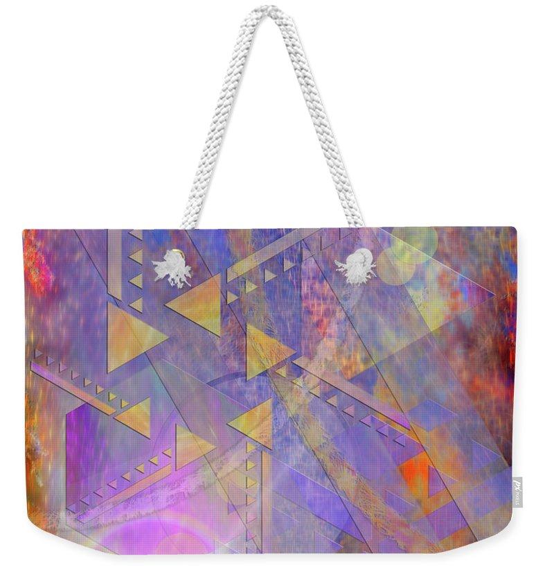 Aurora Aperture Weekender Tote Bag featuring the digital art Aurora Aperture by John Robert Beck