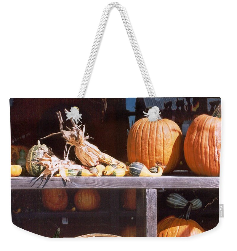 Still Life Weekender Tote Bag featuring the photograph Autumn Still Life by Steve Karol