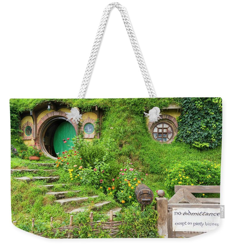 Hobbiton Weekender Tote Bag featuring the photograph Bag End, Hobbiton, New Zealand by Neale And Judith Clark