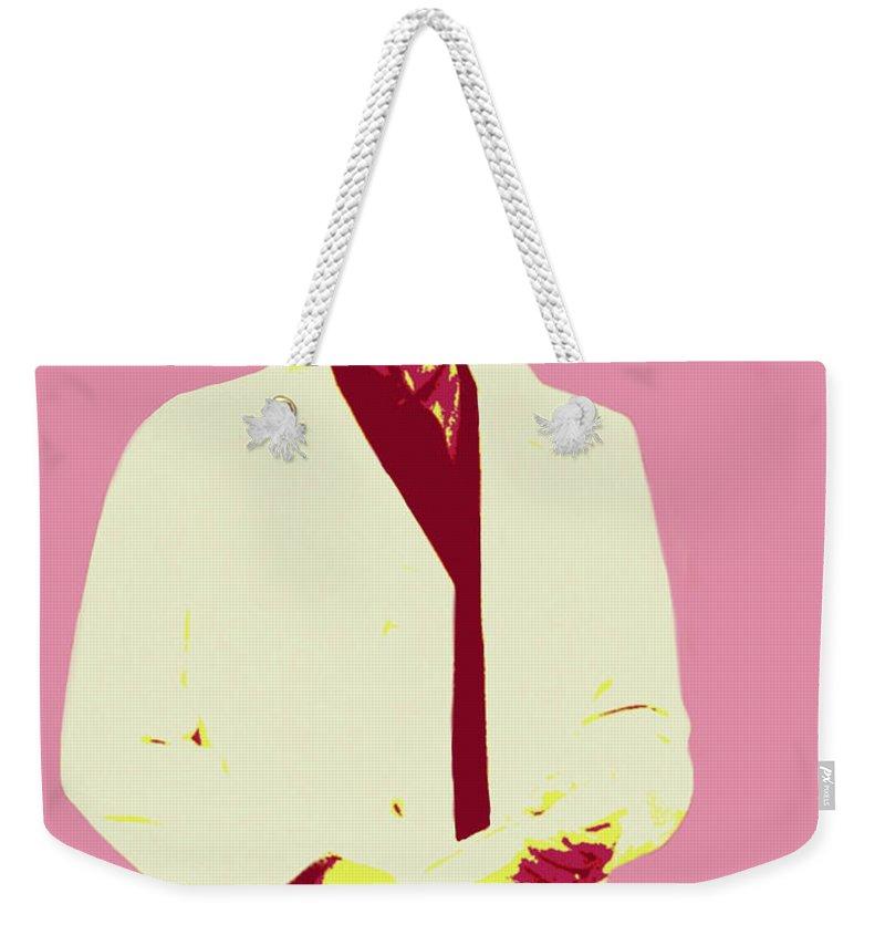Bear Bryant Weekender Tote Bag featuring the painting Bear Bryant by Jack Bunds