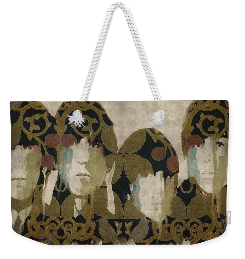 The Beatles Weekender Tote Bag featuring the mixed media Beatles For Sale by Paul Lovering