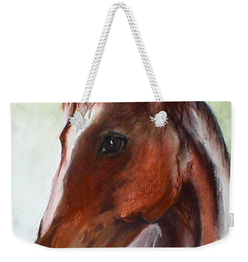 Horse Weekender Tote Bag featuring the drawing Becky by Cori Solomon