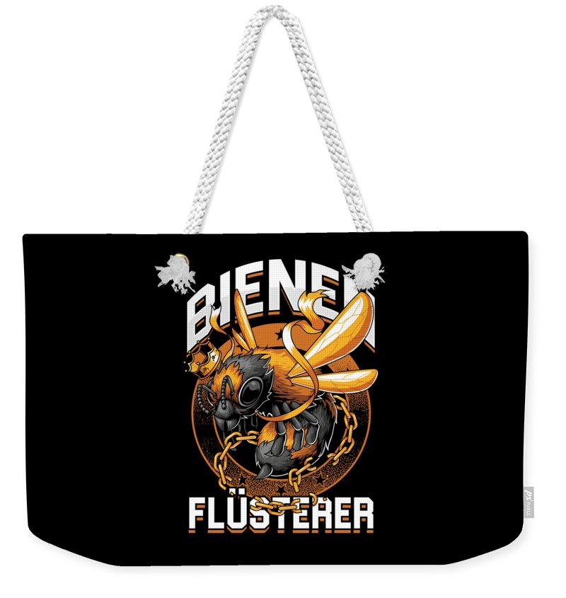 Bee Weekender Tote Bag featuring the digital art Bienen Flsterer Bee Beekeeper Honeycomb Gift by Thomas Larch
