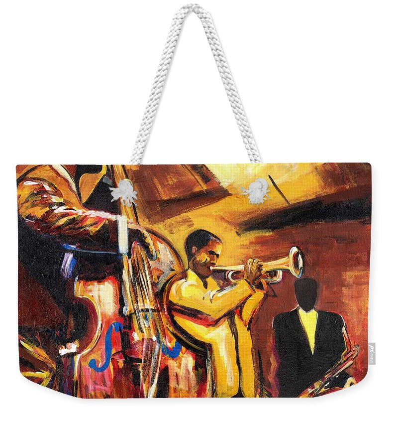 Everett Spruill Weekender Tote Bag featuring the painting Birth Of Cool by Everett Spruill