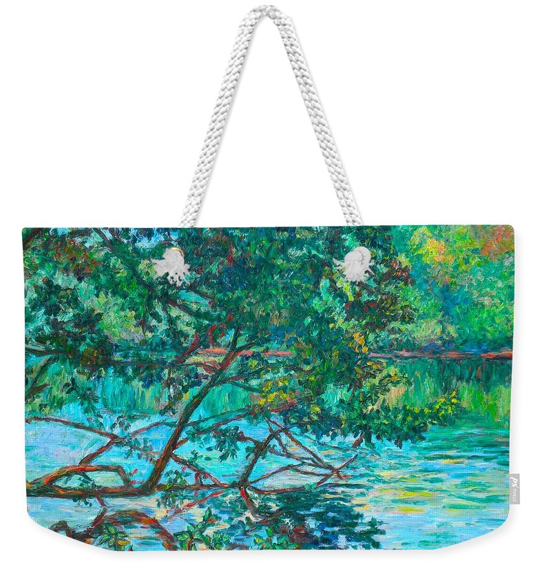 Landscape Weekender Tote Bag featuring the painting Bisset Park by Kendall Kessler