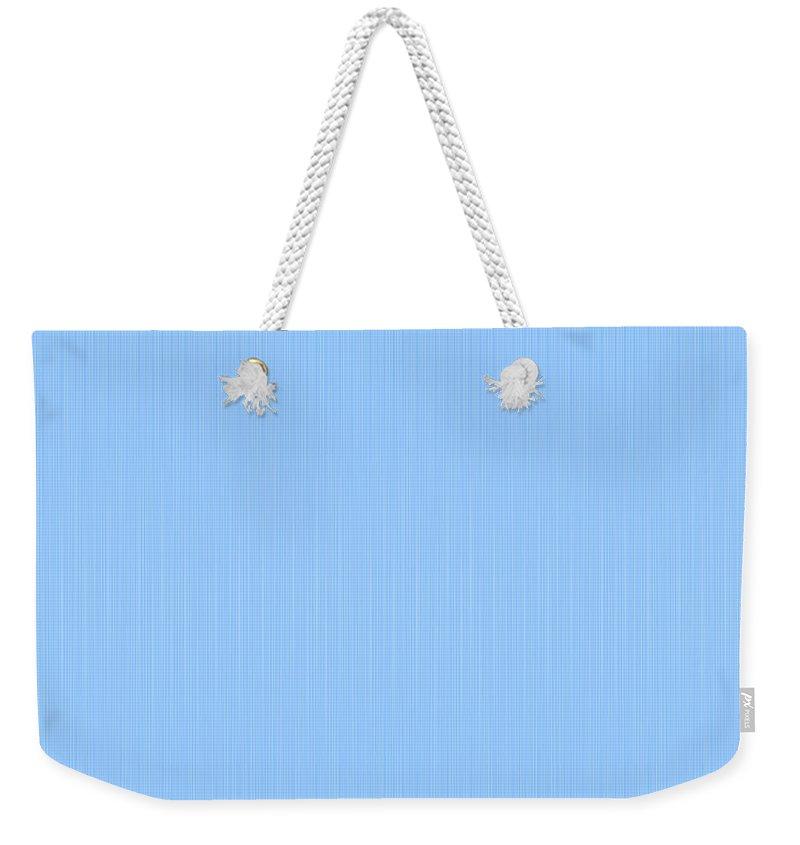 Bluebackground Weekender Tote Bag featuring the digital art Blue by Maria Rzeszotarska
