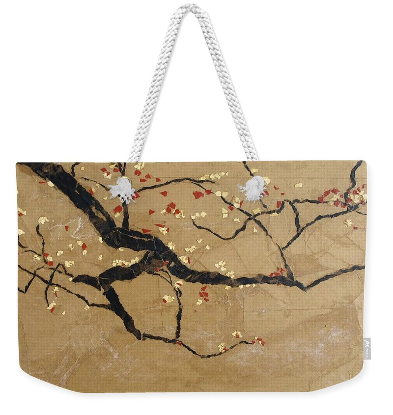 Blooming Branch Weekender Tote Bag featuring the painting Branch by Leah Tomaino