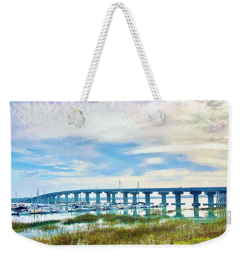 Bridge Weekender Tote Bag featuring the photograph Bridge 1 by Michael Stothard
