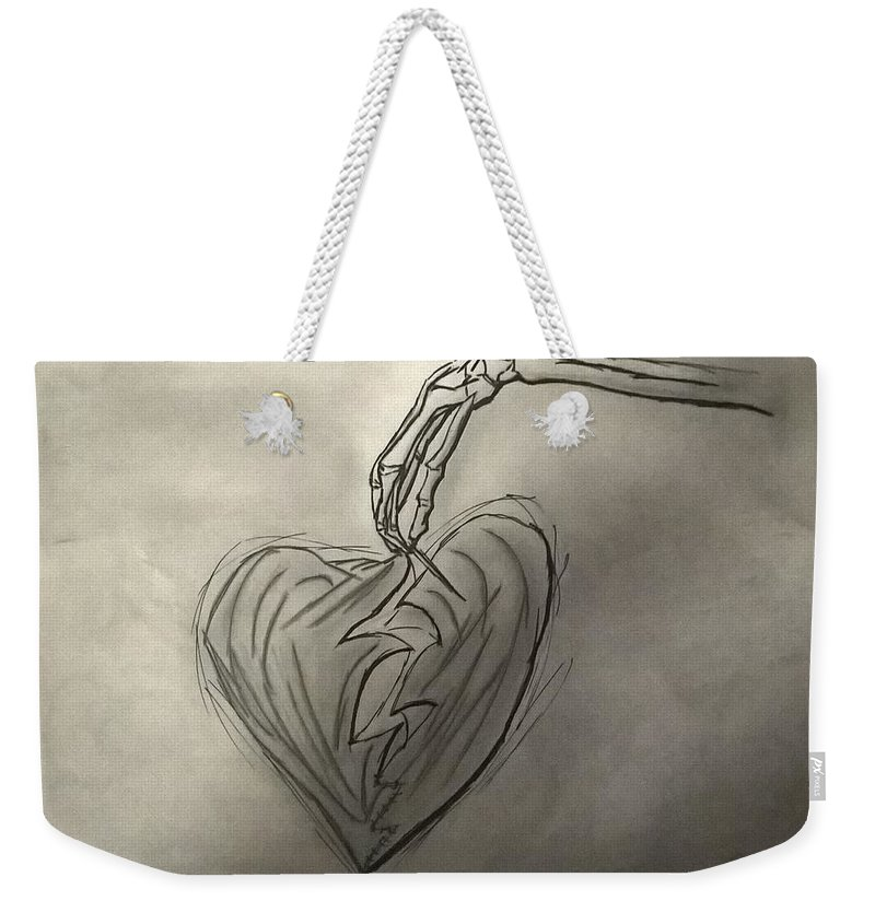 Drawing Weekender Tote Bag featuring the photograph Broken Heart Mended by Ariana Torralba