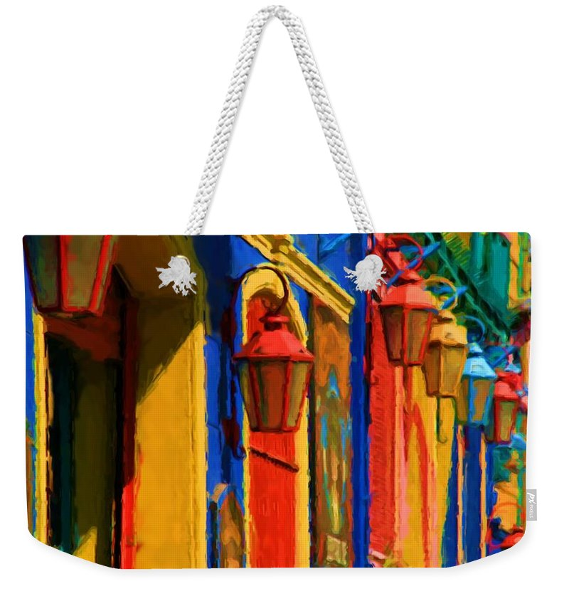 Buenos Aires Weekender Tote Bag featuring the mixed media Buenos Aires by Asbjorn Lonvig