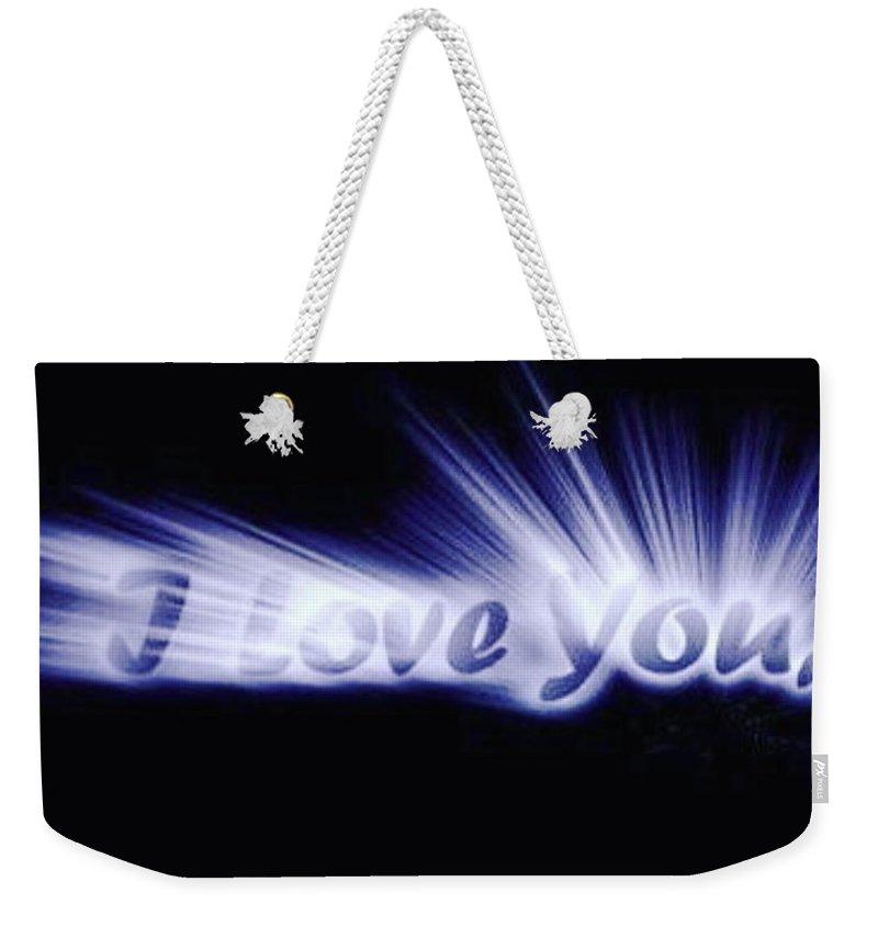 Love Weekender Tote Bag featuring the digital art Burst Of Love by Ariana Torralba