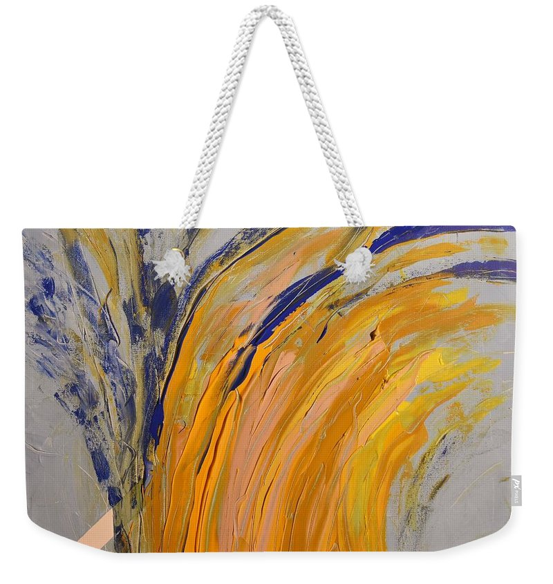 Colorado Weekender Tote Bag featuring the painting Bursting by Pam Roth O'Mara