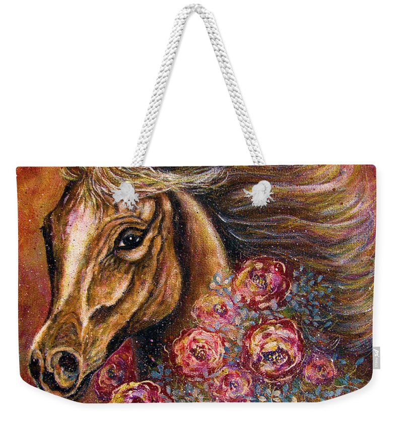 Horse Weekender Tote Bag featuring the painting Champion by Natalie Holland