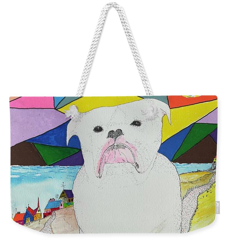 English Bull Dog Weekender Tote Bags