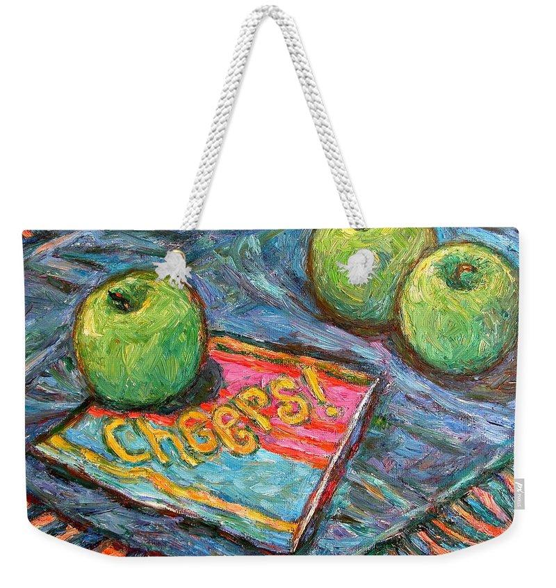 Still Life Weekender Tote Bag featuring the painting Cheers by Kendall Kessler