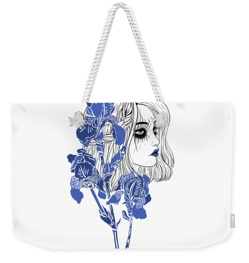 Digital Art Weekender Tote Bag featuring the digital art China girl by Elly Provolo