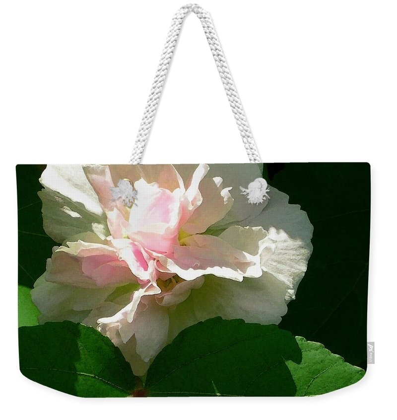 China Rose Weekender Tote Bag featuring the photograph China Rose 1 by James Temple