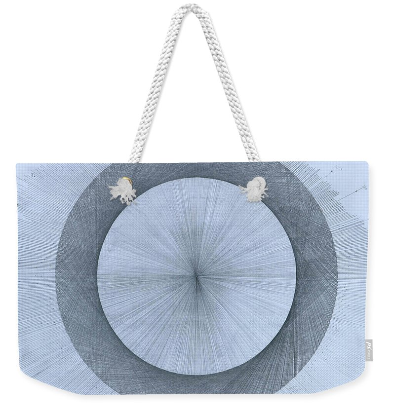 Perfect Weekender Tote Bag featuring the drawing Circles do not exist by Jason Padgett