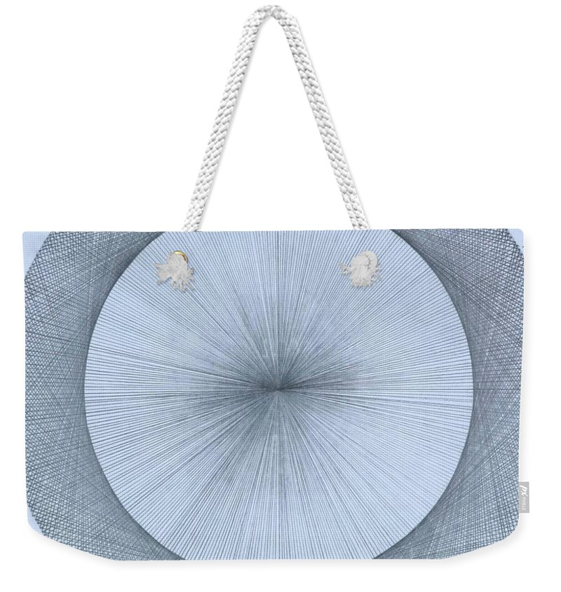 Circle Weekender Tote Bag featuring the drawing Circles do not exist one degree by Jason Padgett