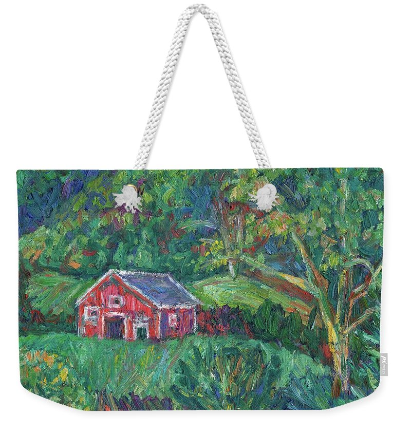Rural Weekender Tote Bag featuring the painting Clover Hollow in Giles County by Kendall Kessler