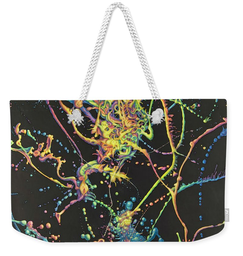 Coalescence Weekender Tote Bag featuring the painting Coalescence by James W Johnson