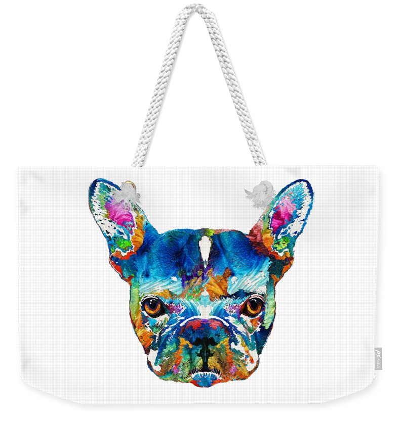 French Bull Dog Weekender Tote Bags