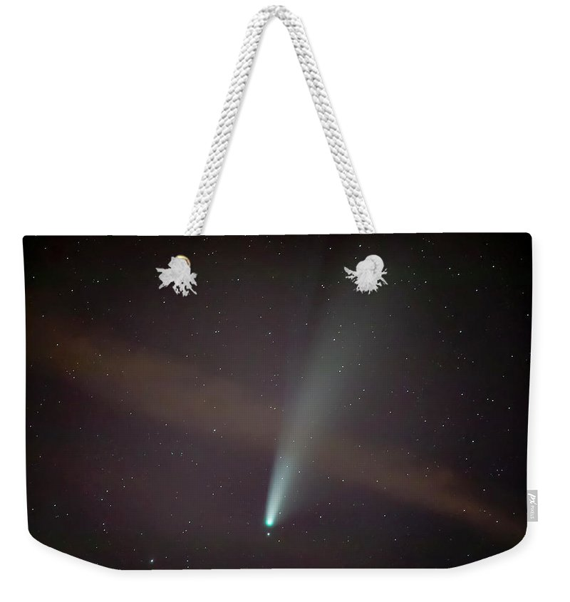 Comet Weekender Tote Bag featuring the photograph Comet Neowise by Nunzio Mannino