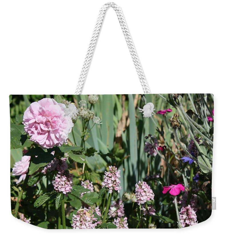 Cottage Garden Weekender Tote Bag featuring the photograph Cottage Garden by Vicki Cridland