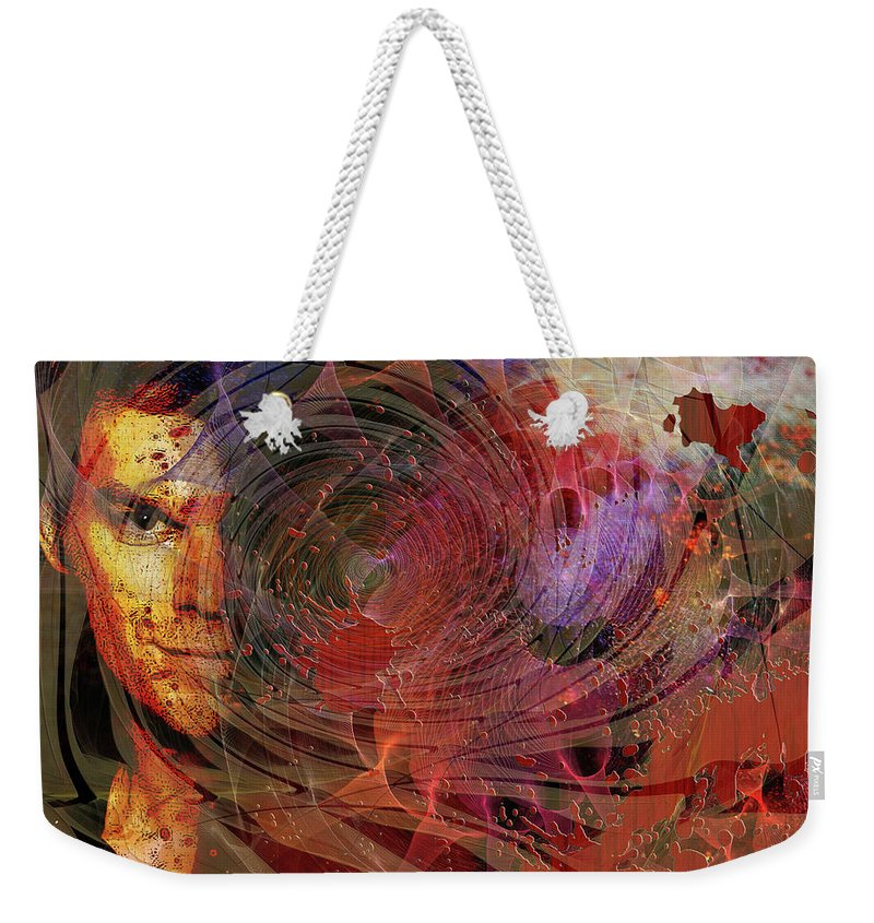 Crimson Requiem Weekender Tote Bag featuring the digital art Crimson Requiem by John Robert Beck