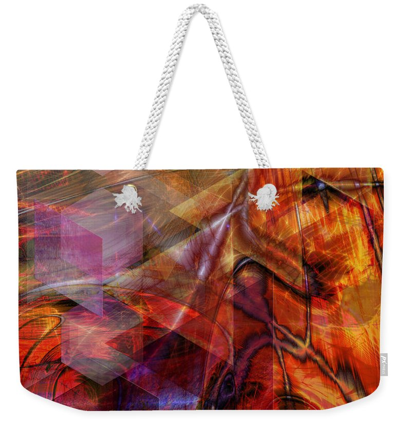 Deguello Sunrise Weekender Tote Bag featuring the digital art Deguello Sunrise by John Robert Beck